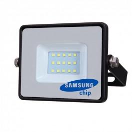 10W LED Прожектор SMD  SAMSUNG ЧИП Черно Тяло Студено бяла светлина