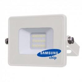 10W LED Прожектор SMD  SAMSUNG ЧИП Бяло Тяло Студено бяла светлина