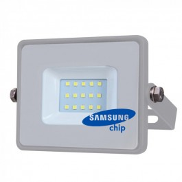 10W LED Прожектор SMD  SAMSUNG ЧИП Сиво Тяло Топло бяла светлина