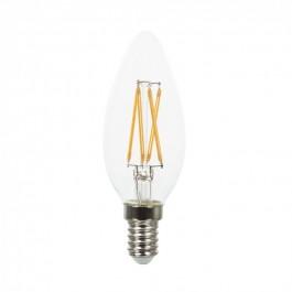 LED Тип Свещ Крушка - 4W Винтидж Кръст E14 Топло бяла светлина Димиращa