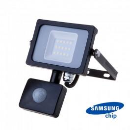 10W LED Прожектор Със Сензор  SAMSUNG ЧИП  Черно Тяло 6400К