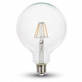 LED Крушка - 4W E27 G125  топло бяла светлина Винтидж Димираща