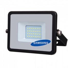 20W LED Прожектор SMD  SAMSUNG ЧИП Черно Тяло Студено бяла светлина