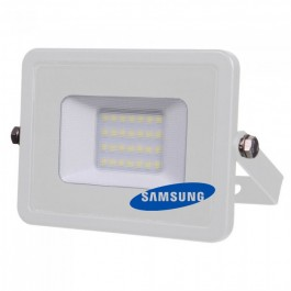 20W LED Прожектор SMD  SAMSUNG ЧИП Бяло Тяло Студено бяла светлина