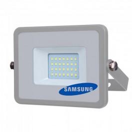 20W LED Прожектор SMD  SAMSUNG ЧИП Сиво Тяло Топло бяла светлина