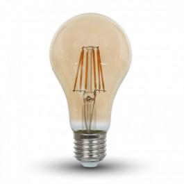 LED Крушка - 8W Винтидж Кехлибар E27 A67 Топло бяла светлина