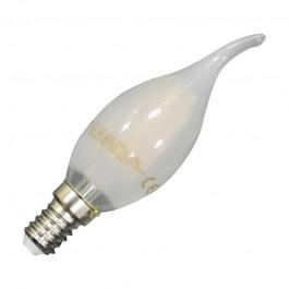 LED Крушка - 4W Винтидж E14 Свещ пламък Матирано покритие Топло бяла светлина Димираща