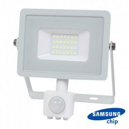 20W LED Прожектор Сензор SAMSUNG ЧИП Бяло Тяло 3000К