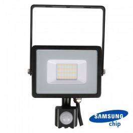 20W LED Прожектор Сензор SAMSUNG ЧИП Черно Тяло 6400К