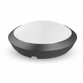 12W LED Кръгло Тяло Външен Монтаж Със Сензор Черно Тяло IP66 3000K