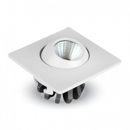3W LED Луна Регулируема Квадрат - бяло тяло, топло бяла светлина