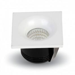 3W LED Луна Квадрат - бяло тяло, бяла светлина