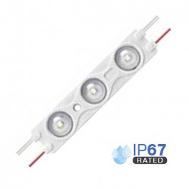LED Модул 1.5W 2835 SMD Троен IP67, Студено бяла светлина