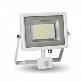 30W LED Прожектор Сензор Бяло тяло SMD, Бяла