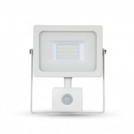 20W LED Прожектор Сензор Бяло тяло SMD, Топло бяла светлина