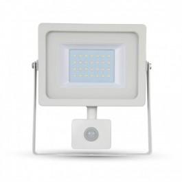 50W LED Прожектор Сензор Бяло тяло SMD, Студено бяла светлина