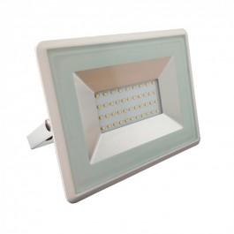 30W LED Прожектор Е-Series Бяло тяло SMD Топло бяла светлина