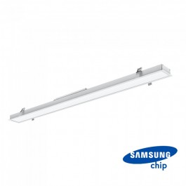 LED Линейно Осветление SAMSUNG Чип - 40W За Вграждане Сиво Тяло 6400K