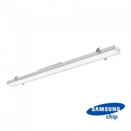 LED Линейно Осветление SAMSUNG Чип - 40W За Вграждане Бяло Тяло 6400K