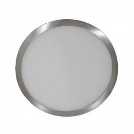 6W  LED Панел Външен монтаж Сатен Никел Кръг Топло бяла светлина