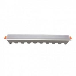 30W LED Линейно Тяло за вграждане Бяло  Студено бяла светлина