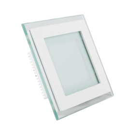 6W LED Мини Панел - стъкло, квадрат, бяла светлина