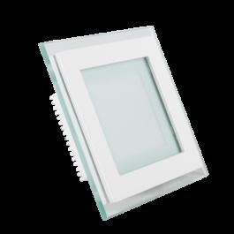 6W LED Мини Панел - стъкло, квадрат, топло бяла светлина