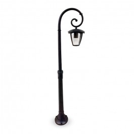 Градиснки Лампа 1ХE27 1365мм Черен IP44 Водозащитен