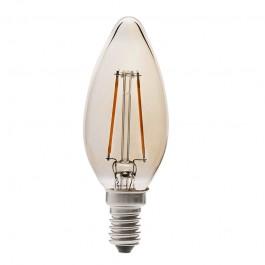 LED Тип Свещ Крушка - 4W Винтидж Kехлибар E14 Топло бяла светлина