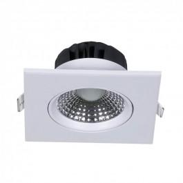 5W LED Луна Регулируема Квадрат - бяло тяло, бяла светлина