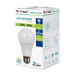 LED Крушка 11W E27 A60 Пластик 6400K