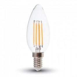 LED Крушка - 6W Filament E14 Кендъл Бяла светлина