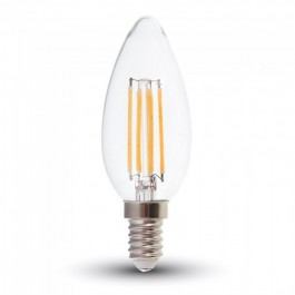 LED Крушка - 6W Винтидж E14 Кендъл Неутрално бяла светлина