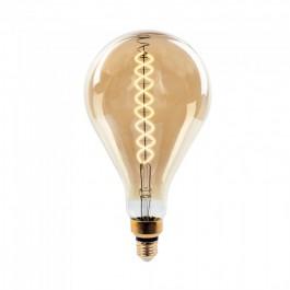 LED Крушка - 8W Filament E27 А165 Димираща 2000К