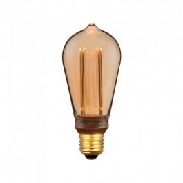LED Крушка - 4W Арт Filament Кендъл E27 ST64 Amber Glass 1800K±200K