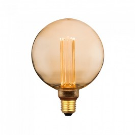 LED Крушка - 4W Арт Filament Кендъл E27 G125 Amber Glass 1800K±200K