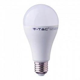 LED Крушка - 17W E27 A65 Пластик 6400K CRI95+
