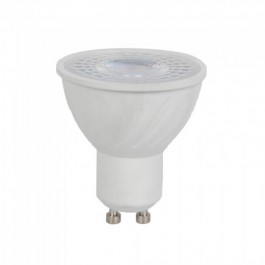 LED Крушка - 6W GU10 Пластик Лупа  64000K  CRI 95+