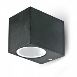 Фасадно Тяло За Стена GU10 Алуминий Квадрат Черно Една Посока IP44