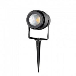12W Градинска Лампа Тип Колче Черно Тяло Неутрално бяла светлина