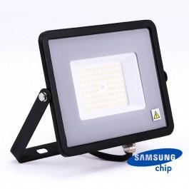 50W LED Прожектор SAMSUNG ЧИП SMD SLIM Черно Тяло 4000К 120LM/W