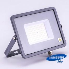 50W LED Прожектор SAMSUNG ЧИП SMD SLIM Сиво Тяло 4000К 120LM/W