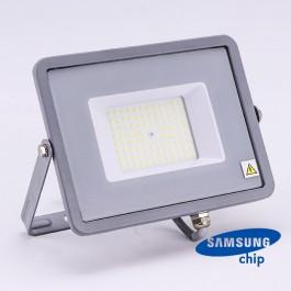 50W LED Прожектор SAMSUNG ЧИП SMD SLIM Сиво Тяло 6400К 120LM/W