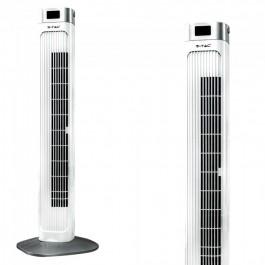 55W Вентилатор Дистанционно Дисплей 36 Inch Бял