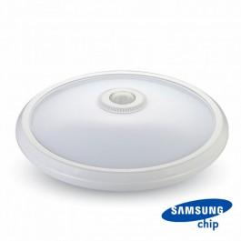 LED Плафониера SAMSUNG ЧИП - 12W Сензор 3000К