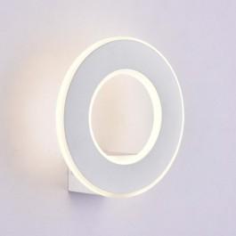 9W LED Стенна Лампа Бяло Тяло IP20 Топло бяла светлина