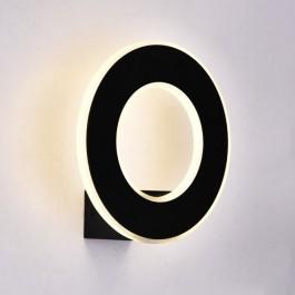 9W LED Стенна Лампа Черно Тяло IP20 Топло бяла светлина