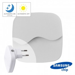 LED Нощна Лампа за Контакт Квадрат 60x60x54.5mm 4000K