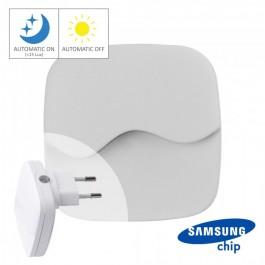 LED Нощна Лампа за Контакт Квадрат 60x60x54.5mm 3000K