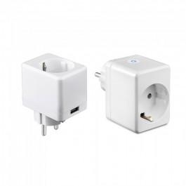 WIFI SMART Мини Контакт с USB Съвместим с Amazon Alexa & Google Home